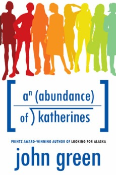 An Abudance of Katherines, John Green, Book Cover, hard cover, young adult