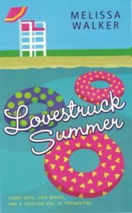 Lovestruck Summer, Melissa C Walker, Book Cover, Inner tubes, beach