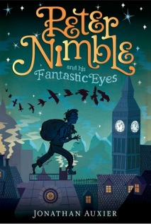 Peter Nimble And His Fantastic Eyes, Book Cover, Jonathan Auxier, Ravens, Blue, Green