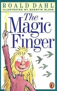 The Magic Finger Roald Dahl book cover