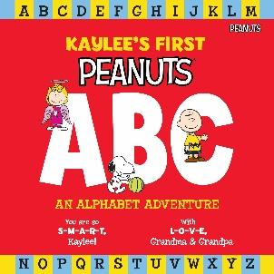 Peanuts ABC Personalized Book Cover